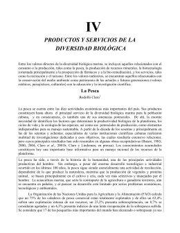 PRODUCTOS Y SERVICIOS DE LA DIVERSIDAD BIOLÓGICA