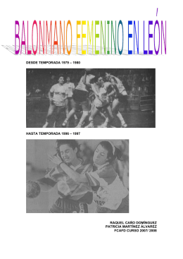 DESDE TEMPORADA 1979 – 1980 HASTA TEMPORADA 1996