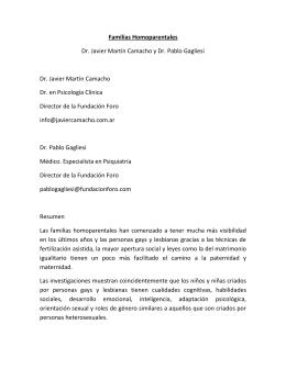 Familias Homoparentales Dr. Javier Martín