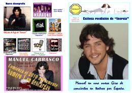 Manuel en una nueva Gira de conciertos en