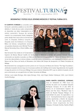 desarga biografías y fotos - IV Festival Internacional de Música de