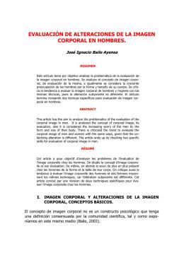 EVALUACIÓN DE ALTERACIONES DE LA IMAGEN CORPORAL