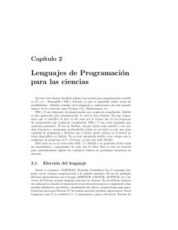 Lenguajes de Programación para las ciencias