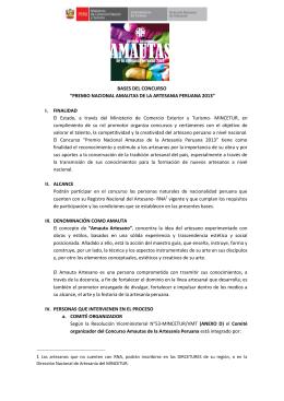 premio nacional amautas de la artesania peruana 2013
