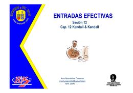 ENTRADAS EFECTIVAS