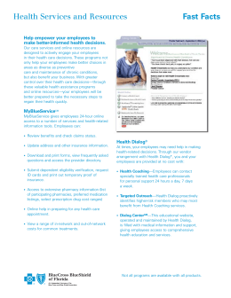 Fast Facts Health Services and Resources