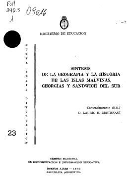 Síntesis de la Geografía y la Historia de las Islas Malvinas, Georgias