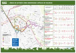 líneas de autobús zona universidad católica de valencia