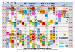 "ACTIVIDADES: ""FITNESS Y WELLNESS"""