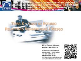 Descargue - M.Sc. Gilberto Moreno / UNEG / Investigador CIGEG