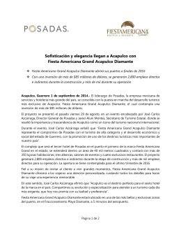 Proyecto Fiesta Americana Grand Acapulco Diamante