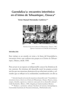 Guendaliza`a: encuentro interétnico en el Istmo de tehuantepec