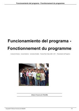 Funcionamiento del programa - Fonctionnement du programme