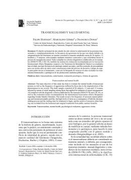 transexualismo y salud mental - Asociación Española de Psicología