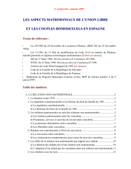 Droit civil_Aspects matrimoniaux union