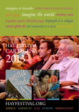 Informe del Hay Festival Cartagena 2013