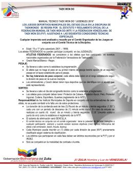 Taekwondo - IRDEZ:::Instituto Regional de Deportes