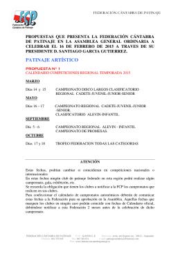 PATINAJE ARTÍSTICO - Federación Cántabra de Patinaje