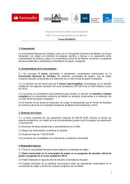 estudios - Prosecretaría de Relaciones Internacionales