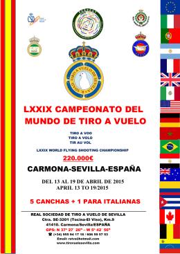 LXXIX CAMPEONATO DEL MUNDO DE TIRO A VUELO