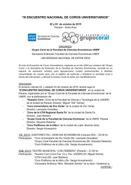 III ENCUENTRO NACIONAL DE COROS UNIVERSITARIOS (info)