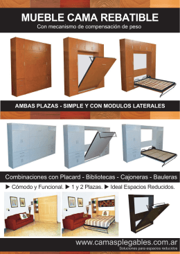 FOLLETO CAMAS REBATIBLES PLEGABLES