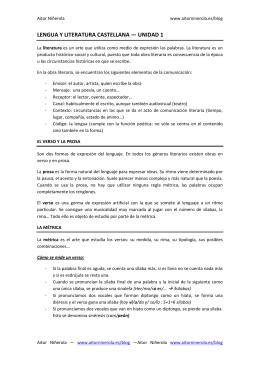LENGUA Y LITERATURA CASTELLANA — UNIDAD 1