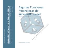 Algunas Funciones Financieras de Microsoft Excel