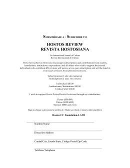 hostos review revista hostosiana - Hostos Community College