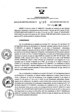 Plura, 1 3 ASO ZQ1S - Direccion Regional de Transportes y