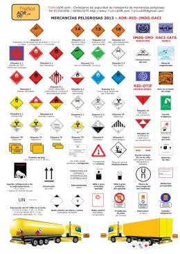Etiquetas ADR 2013