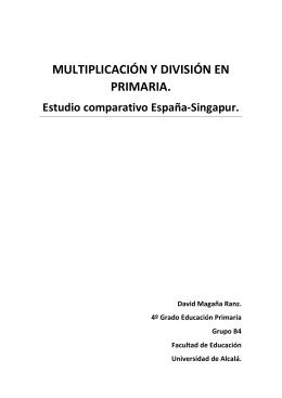 MULTIPLICACIÓN Y DIVISIÓN EN PRIMARIA.