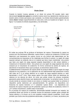 Diodo Zener: especificaciones - Universidad Nacional de Quilmes