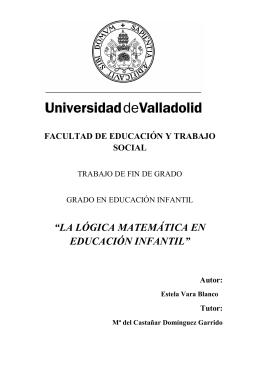 """""""LA LÓGICA MATEMÁTICA EN EDUCACIÓN INFANTIL"""""""