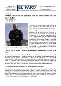"""""""ElFaroDigital.es"""" entrevista al capitán de fragata Ignacio Paz con"""