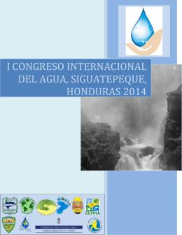 i congreso internacional del agua, siguatepeque, honduras 2014