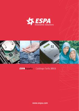 Catálogo-Tarifa 2015 www.espa.com