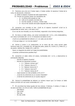 problemas de probabilidades - Colegio Ntra. Sra. del Pilar