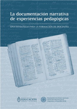 La documentación narrativa de experiencias pedagógicas