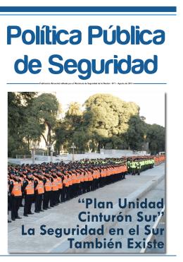 Plan Unidad Cinturón Sur - Ministerio de Seguridad