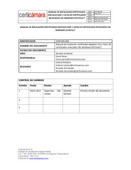 IDENTIFICADOR COM-MA-046 NOMBRE DEL