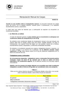 Manipulación Manual de Cargas