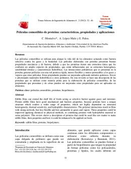 Películas comestibles de proteína: características - web