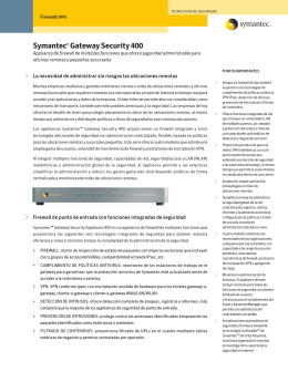 Symantec™ Gateway Security 400