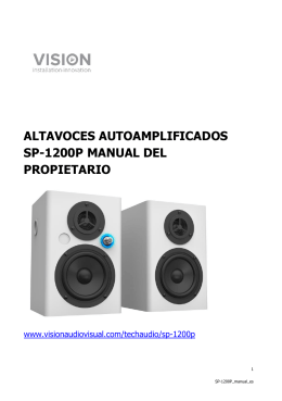ALTAVOCES AUTOAMPLIFICADOS SP-1200P MANUAL