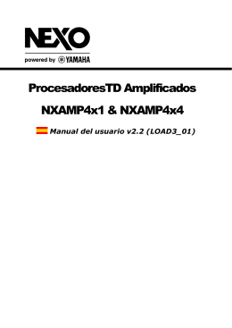 ProcesadoresTD Amplificados NXAMP4x1 & NXAMP4x4