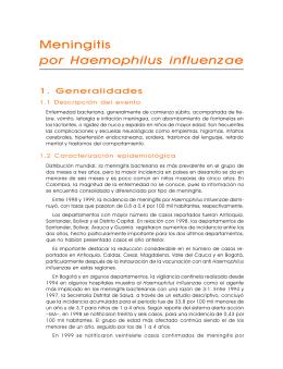 MENINGITIS INFLUENZAE - Secretaría Distrital de Salud