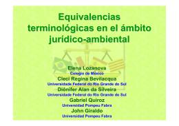 Equivalencias terminológicas en el ámbito jurídico-ambiental