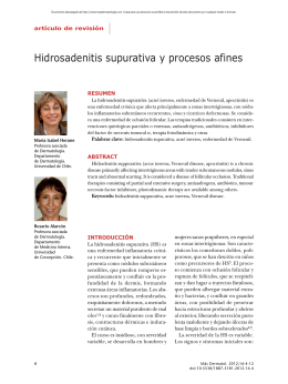 Hidrosadenitis supurativa y procesos afines