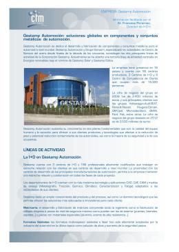 Gestamp Automoción - CTM Centre Tecnològic, de Manresa